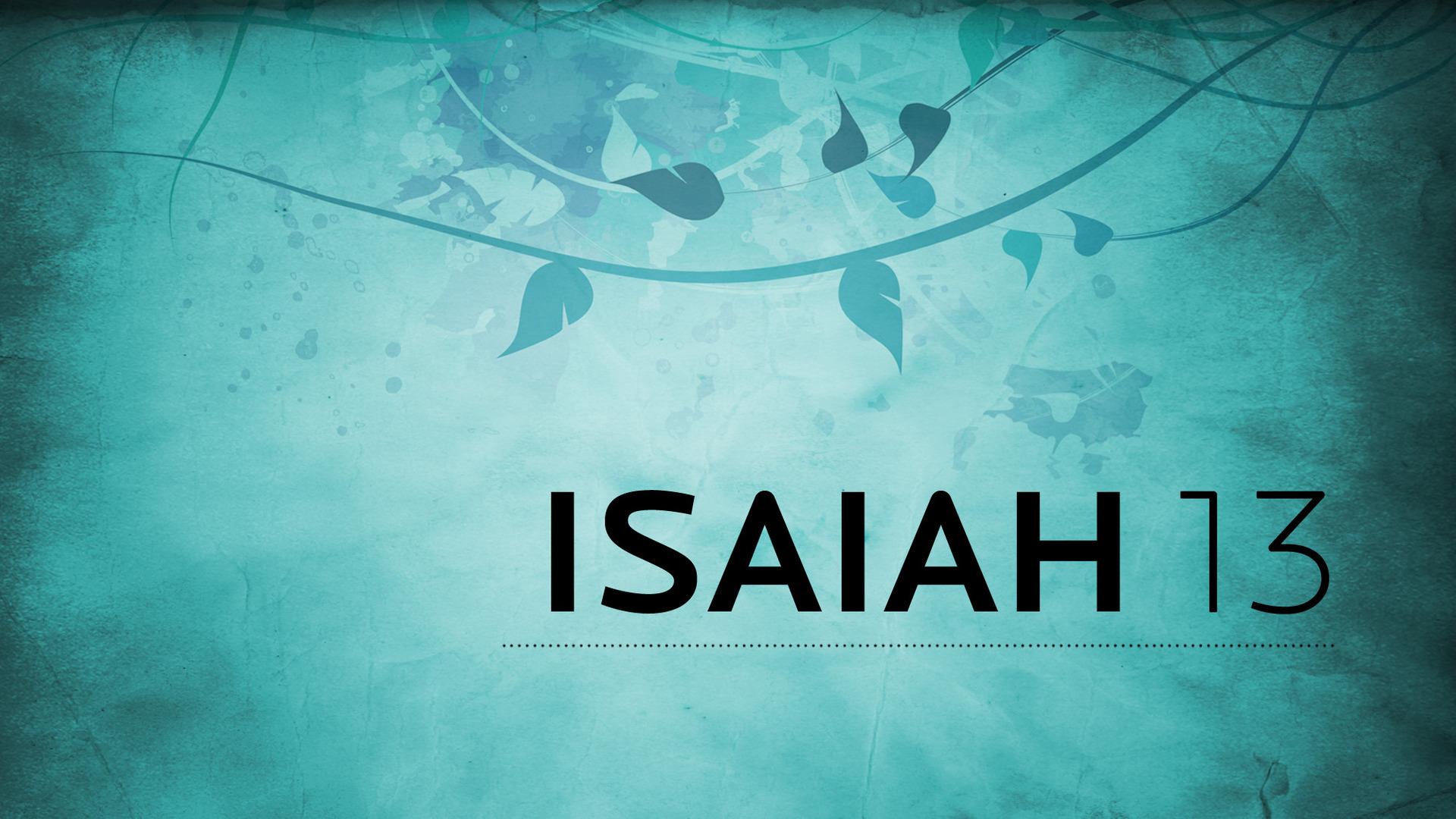 Isaiah 13