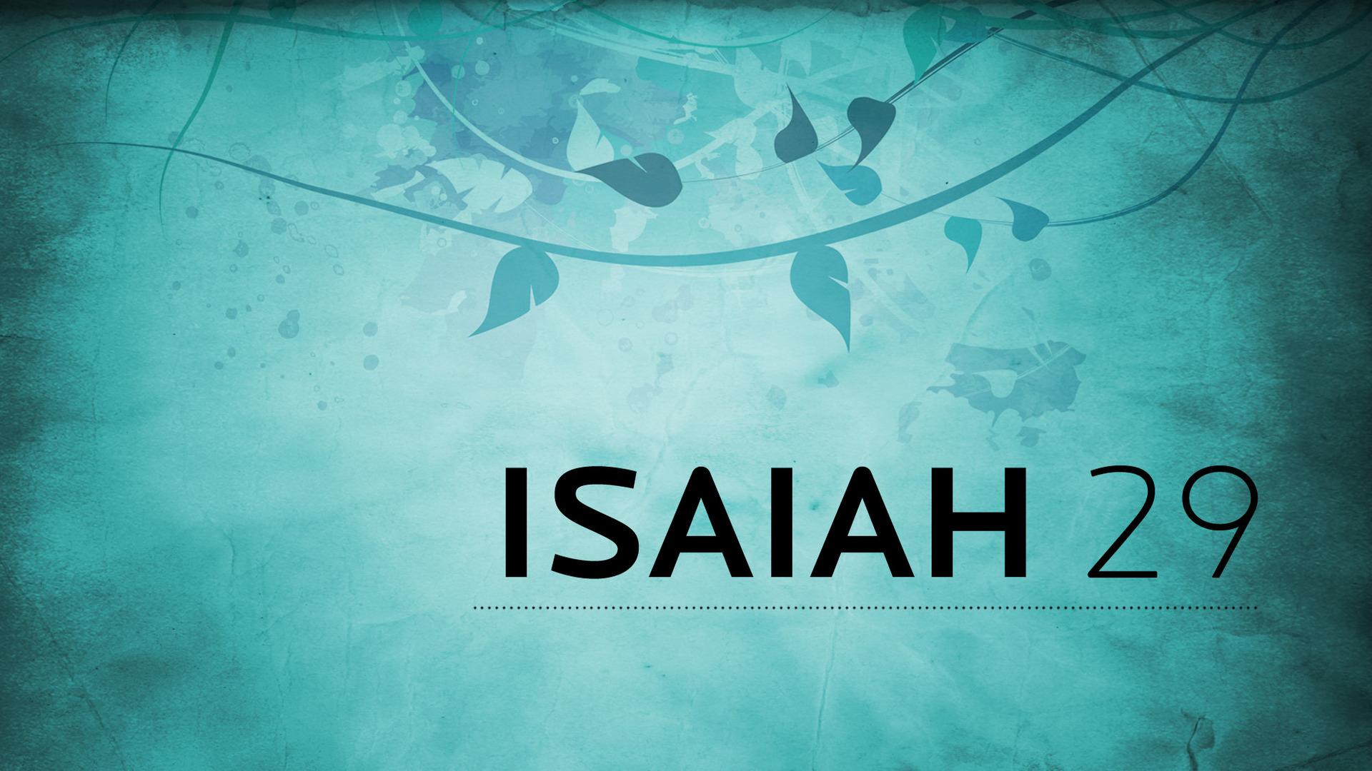 Isaiah 29
